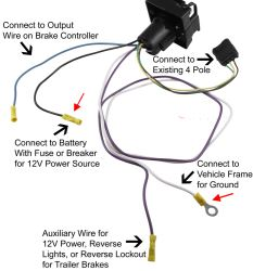 qu107731_250 trailer wiring harness adapter to convert 4 pole to 7 way to allow 4 to 7 pin wiring harness at reclaimingppi.co
