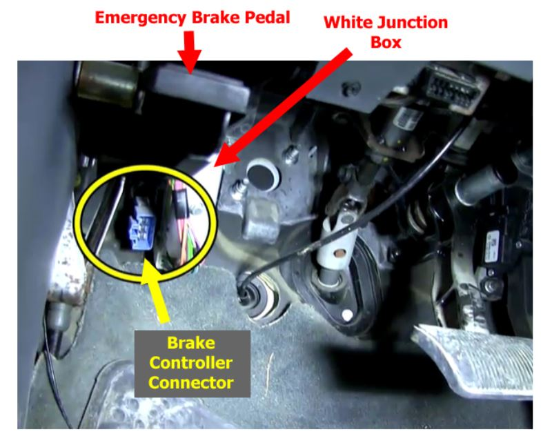 Locating Brake Controller Install Connector On 2004 Dodge Ram 1500