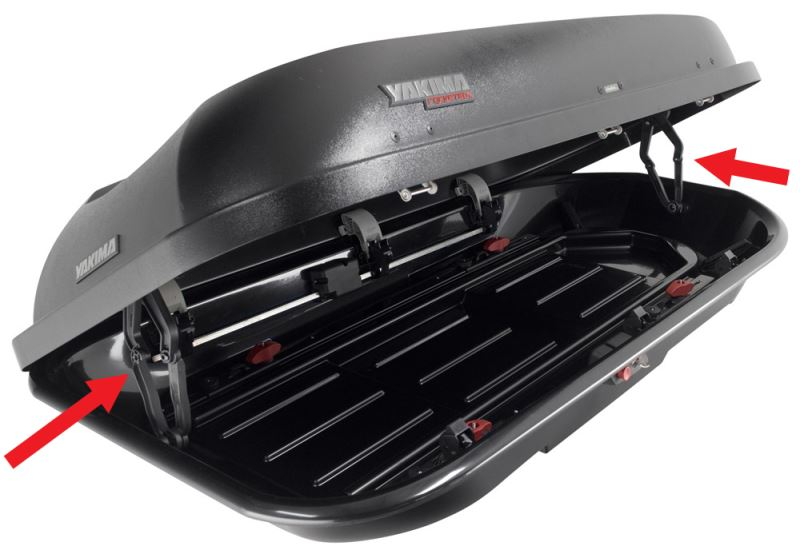 Yakima Roof Box >> How Are Replacement Lid Supports For Yakima RocketBox Cargo Box Installed | etrailer.com