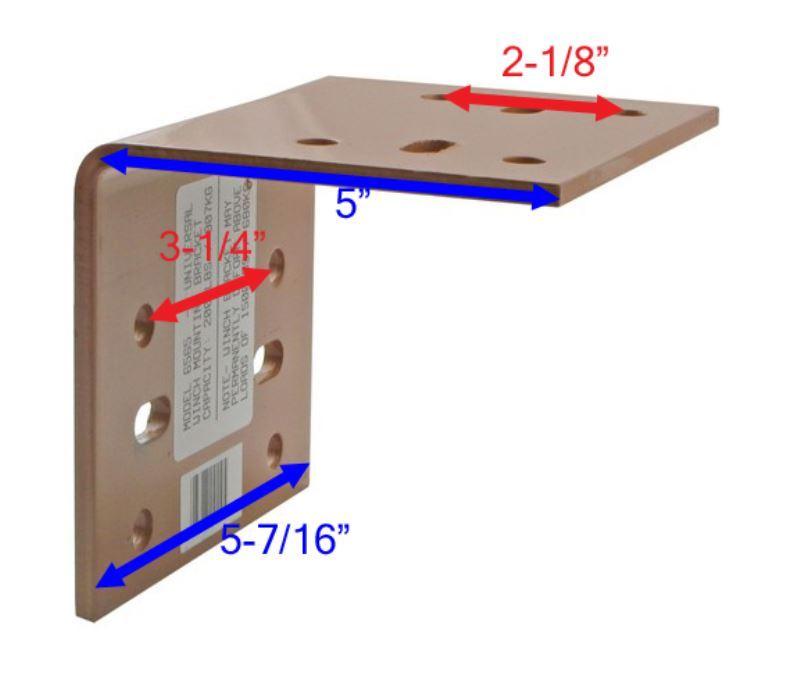 Right Angle Winch : Adapting universal hand winch right angle mounting bracket