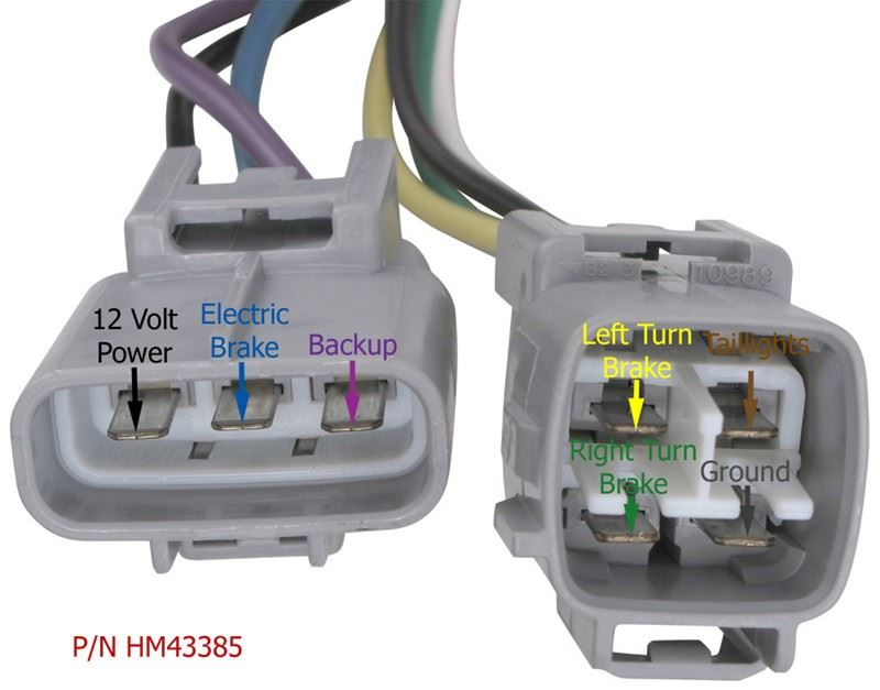 Factory Trailer Wiring Harness For A 2003 Toyota Sequoia Has Power But Connector Does Not