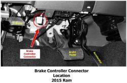 where is brake controller plug located on 2015 ram 1500 etrailer comclick to enlarge