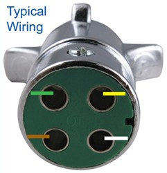 Wire 4-Way Round Pin Trailer Wiring Connector PK11409 ...