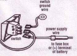 how to wire up the switch of the halogen docking light kit dl 16cc rh etrailer com Halogen Fog Light Wiring Wiring a Plug Light