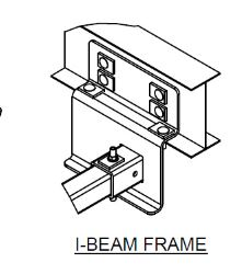 trailer hitch re mendation for a trailer with an i beam frame Weld Beam Connection i beam frame click to enlarge