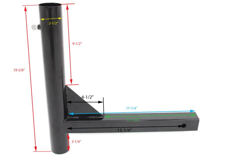 Dimensions Of Camco Hitch-Mounted Flagpole Holder ...