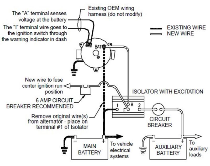 isolate my isolator problem - page 2 - school bus ... dutchmen classic rv battery wiring diagram