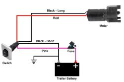 wiring diagram for wiring switch to landing gear motor of lg-142178