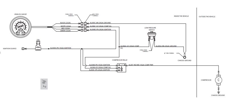 Wiring Schematic Of Airlift Heavy Duty Compressor System Gauge