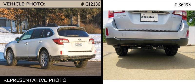 look of hitch and ground clearance with curt class ii trailer hitch on 2016 subaru outback. Black Bedroom Furniture Sets. Home Design Ideas