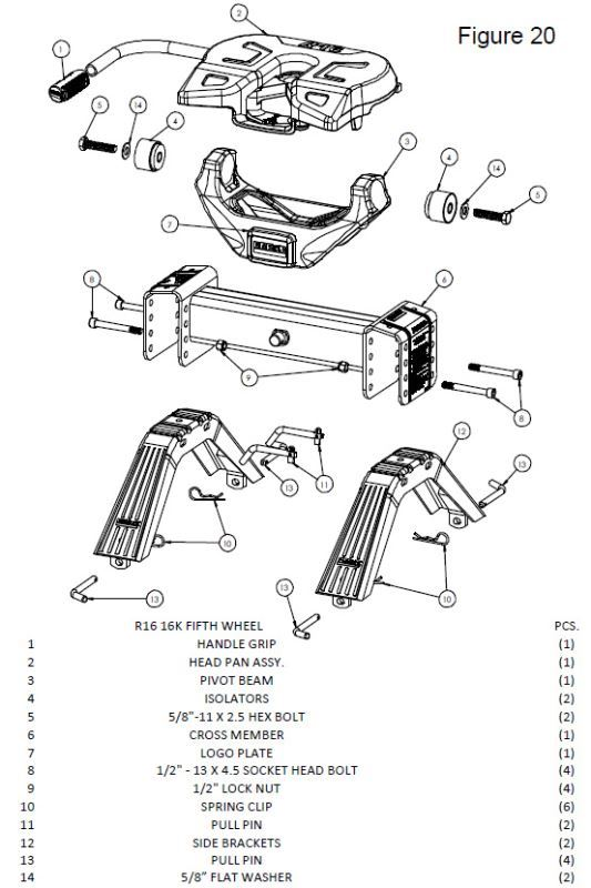 Diagram Availability For A Reese Titan 20k Hitch For