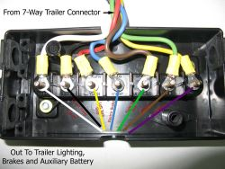 Wiring Diagram for Junction Box and/or Breakaway Kit on a ... on 4 blade trailer wiring diagram, 7 blade rv wiring, 7 blade trailer harness, 7 pin trailer connector diagram, 7 blade trailer wire, 7 blade trailer plug, 7 blade lighting diagram, 6 blade trailer wiring diagram, 7 blade wiring harness, 5 blade trailer wiring diagram,