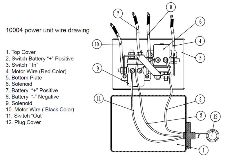 Bulldog Wiring Diagrams : Wiring diagram for the bulldog winch hp standard