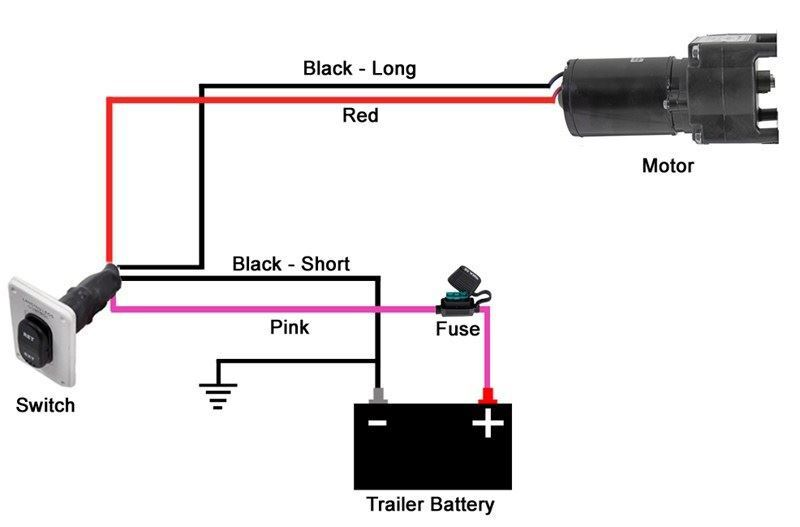 wiring guide for installing 5th wheel landing gear motor
