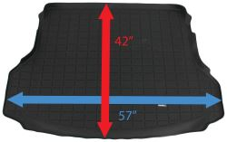 Dimensions Of The Weathertech Cargo Mat Wt40691 For A 2016 Nissan