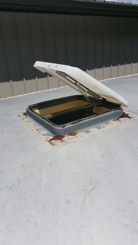 Install Sealant Kit For Roof Top Vent On Enclosed Trailer