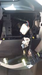 Brake Controller Harness Location for 2017 Toyota Taa