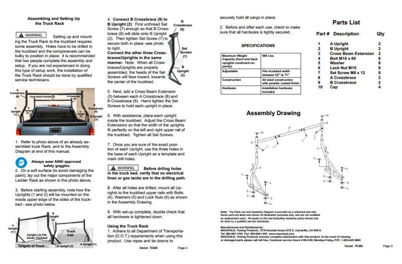 ladder rack installation instructions
