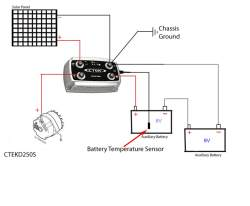 connecting solar panel lead wires to two 6 volt batteries connected cole hersee battery isolator wiring diagram click to enlarge