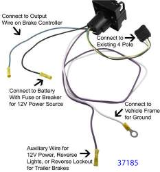 recommended 4 way to 7 way wiring harness for 2007 dodge ram 1500 rh etrailer com 7 way wiring harness extension 7 way wiring harness t