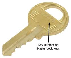 replacement key for master lock coupler lock. Black Bedroom Furniture Sets. Home Design Ideas