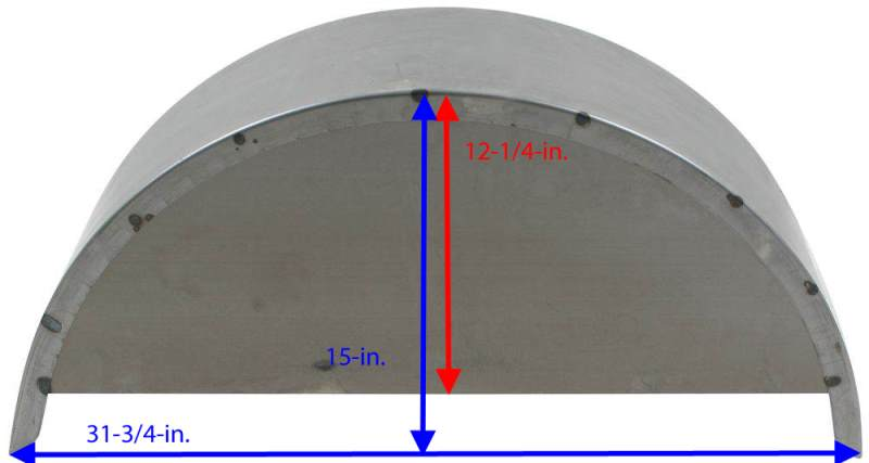 Trailer Fenders With Backing Plate : Dimensions of the backing plate on redline steel trailer