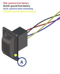 wire color diagram for replacement electric jack switch lc387874click to enlarge