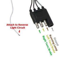 curt vehicle wiring harness with 4 pole flat trailer connector 60\