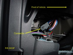vehicle trailer wiring diagram location of brake controller connector on a 2011 land  location of brake controller connector on a 2011 land