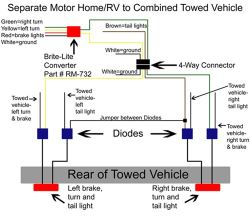 tail light wiring converter for 3 wire motorhome towing car with 2 Brake Light Wiring Diagram