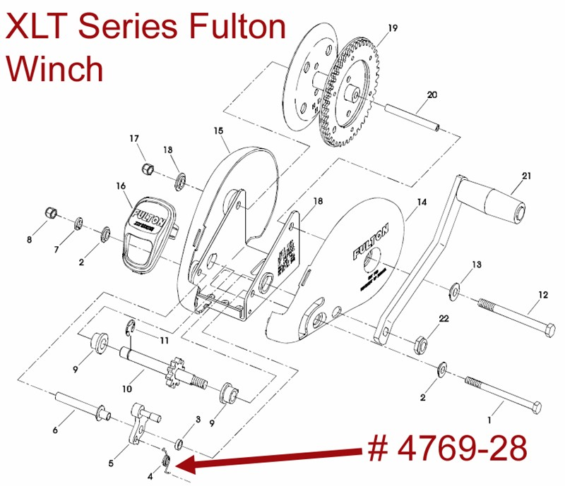 Exploded    Diagram    for a Fulton XLT Series    Winch      etrailer