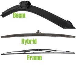 Difference Between Beam Frame And Hybrid Style Wiper Blades