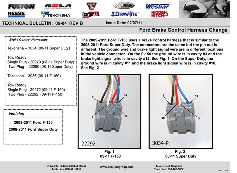 2000 Ford F250 Trailer Brake Wiring Diagram : Engine will not start with brake controller and p