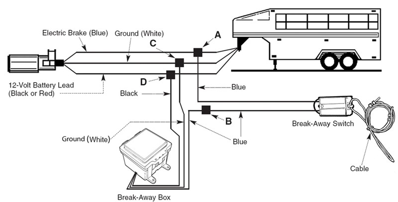 only front trailer brakes work with prodigy and only rear brakes work with breakaway switch