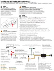 Curt Powered Converter Lead Instruction Sheet CME-PCL-INS