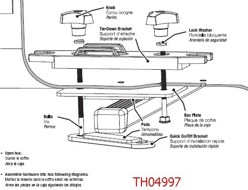 Thule Qm3 Quick On Off Mounting Hardware Kit