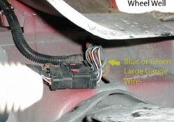 qu32028_250 completing tow package wiring on 2006 dodge ram 2500 with factory 1999 dodge ram 3500 trailer wiring diagram at soozxer.org