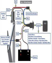 C-800 Replacement Klauber Motor for Standard Lippert Components Electric  Stabilizer Jacks