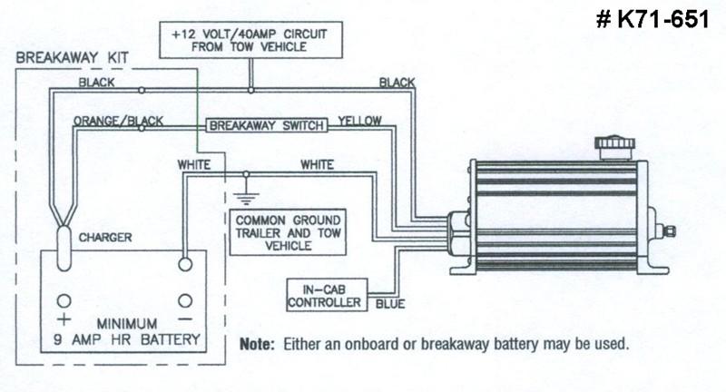 dexter hydraulic trailer brake actuator runs when 12 volt