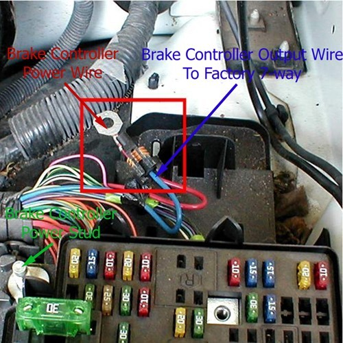 using 3025 p wiring adapter to install brake controller. Black Bedroom Furniture Sets. Home Design Ideas