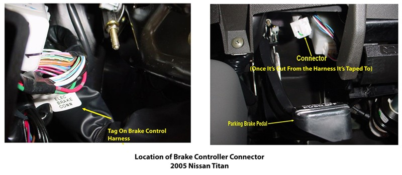Locating Brake Controller Connector On 2005 Nissan Titan