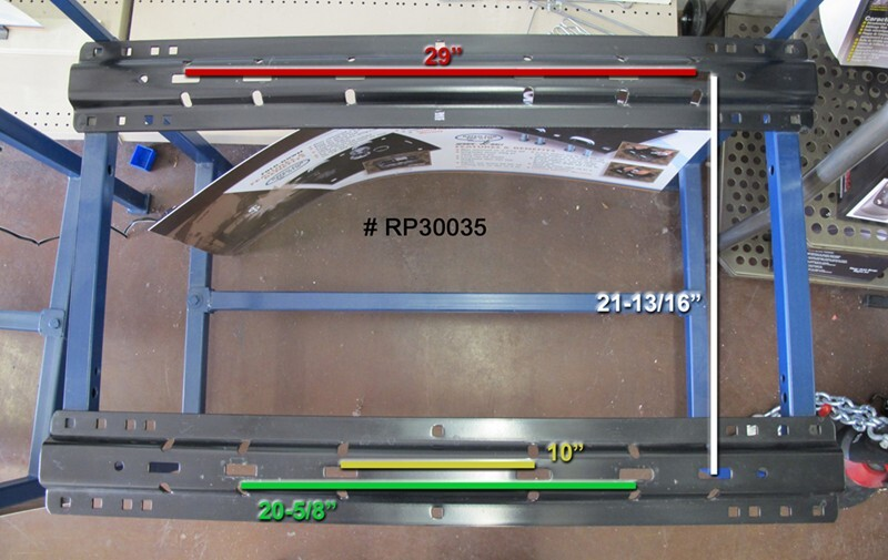 Types Of Trailer Hitches >> Fifth Wheel Rail Spacing and Available Fifth Wheel Hitch ...