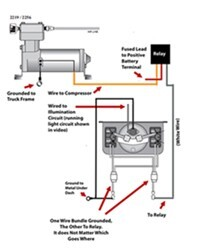 wiring diagram for firestone level command ii on board compressor rh etrailer com Air Ride Suspension Installation Diagram Air Ride Suspension Installation Diagram