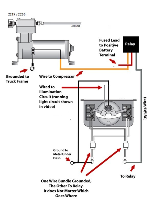 wiring diagram for firestone level command ii on board compressor  : airbag wiring diagram - findchart.co