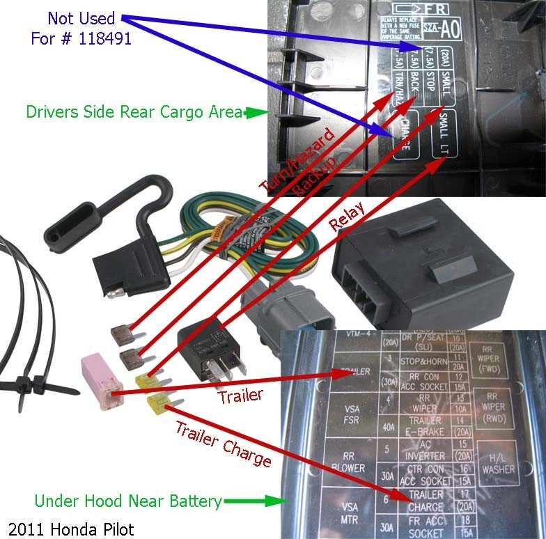 Trailer Tail Lights Not Working After Installing Tow Ready Wiring   118491 On A 2009 Honda Pilot