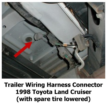 troubleshooting oem 4 pole trailer connector on 1998 toyota land cruiser etrailer com toyota fj cruiser trailer wiring harness instructions 2007 toyota fj cruiser trailer wiring harness