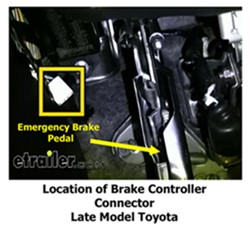 installing tekonsha primus tk90160 in 2012 toyota tacoma rh etrailer com 2005 toyota tacoma parking brake wire 2005 toyota tacoma parking brake wire