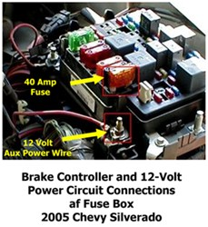 Activating 12Volt Accessory Circuit to 7Way on 2004 Chevy Silverado 2500   etrailer