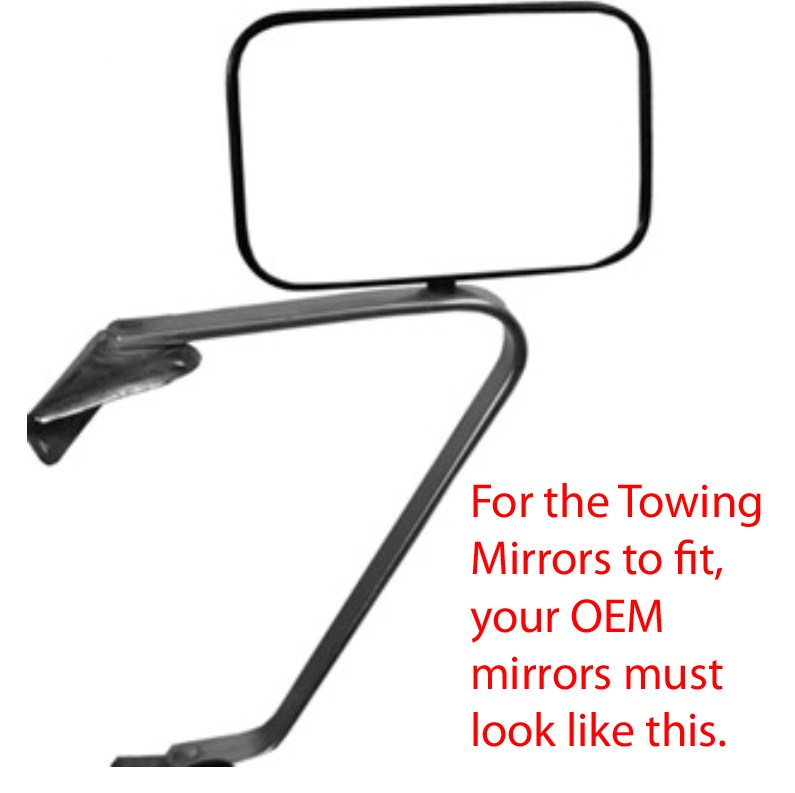 Obs Ford Tow Mirrors Dodge Or Chevy Pirate4x4 Com