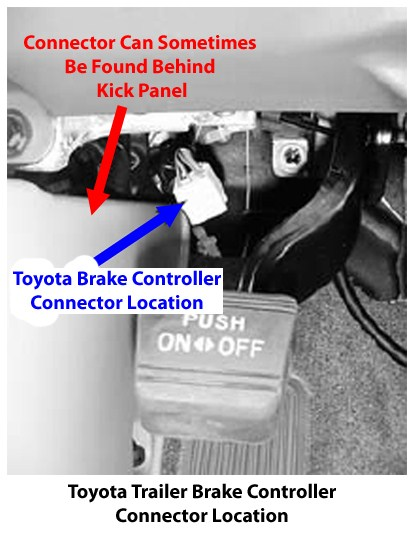 Brake Controller Installation >> Location of Brake Controller Connector in 2010 Toyota Land ...